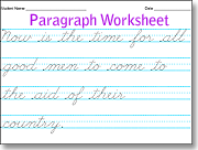 paragraph cursive worksheets use this to practice cursive handwriting ...